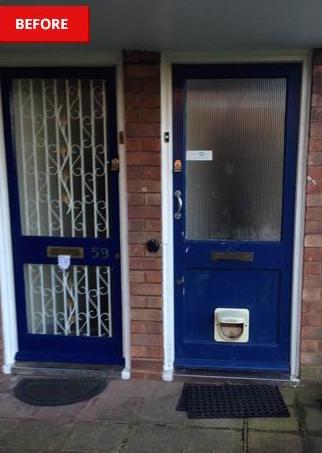 Wooden door needing new installation